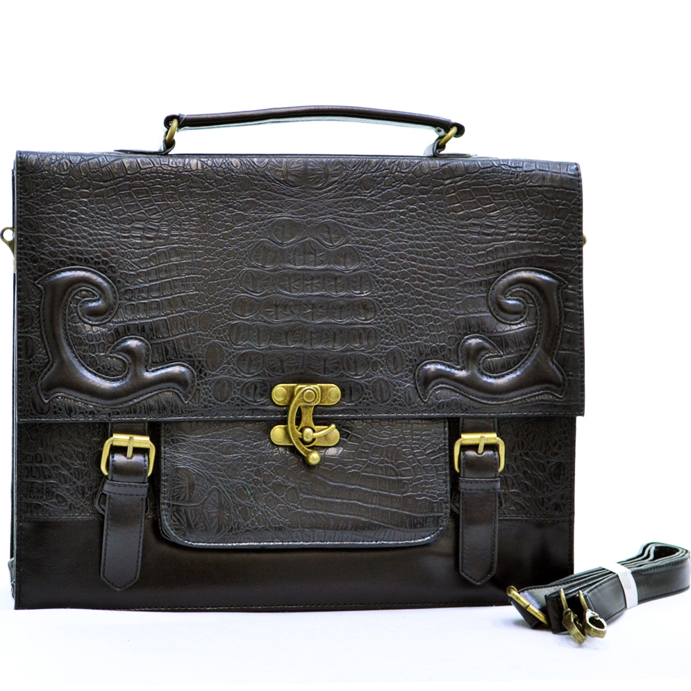 Croco embossed lady's briefcase