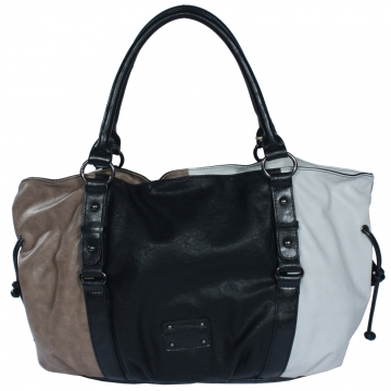 Soft tote bag with color block