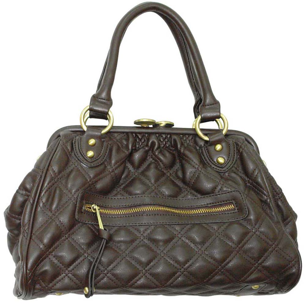 Top's® Quilted Push-Lock Satchel