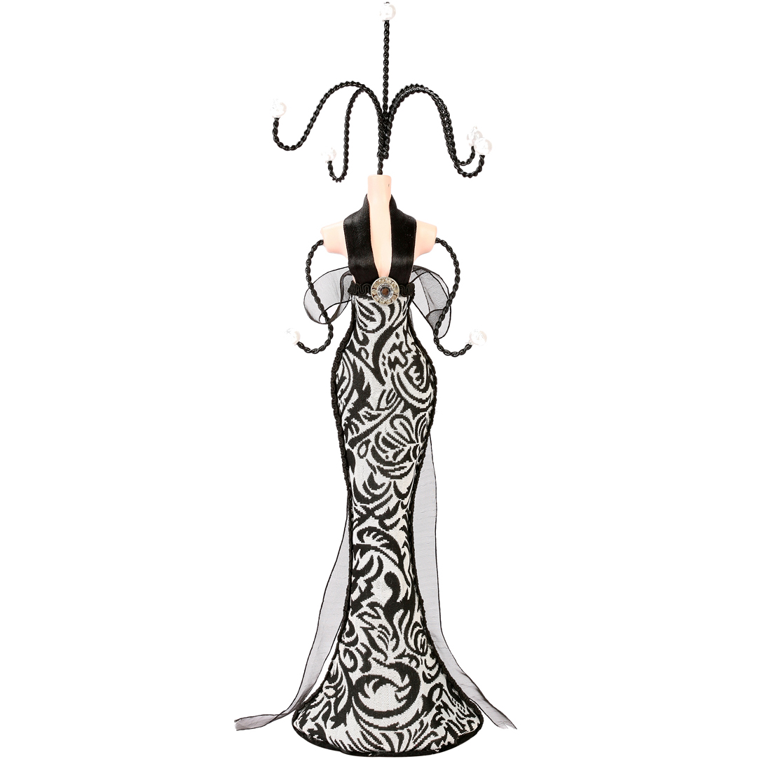 Jewelry display stand evening dress