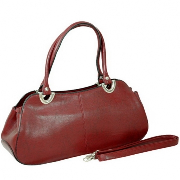 Vani Designer Women's Classic Shoulder Bag-Burgundy Red