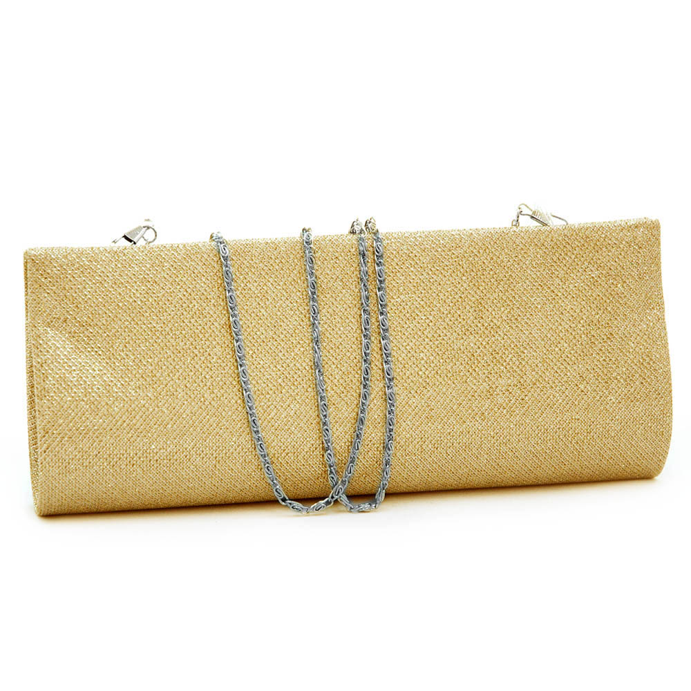 Glittered Satin Evening Bag