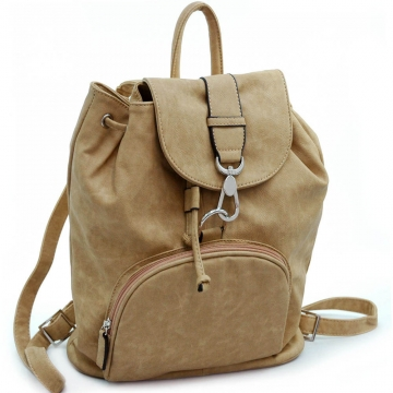 Dasein designer inspired soft leather-like fashion backpack bag
