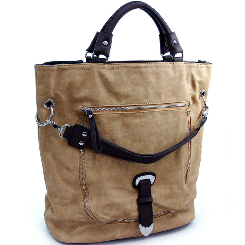 Dasein Worldhood® Zippered Front Tote