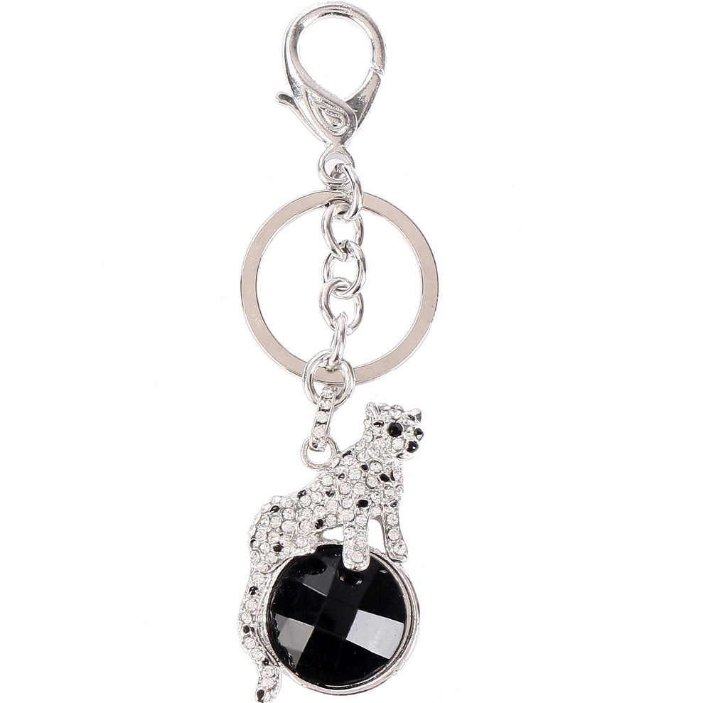 Rhinestone cat key chain