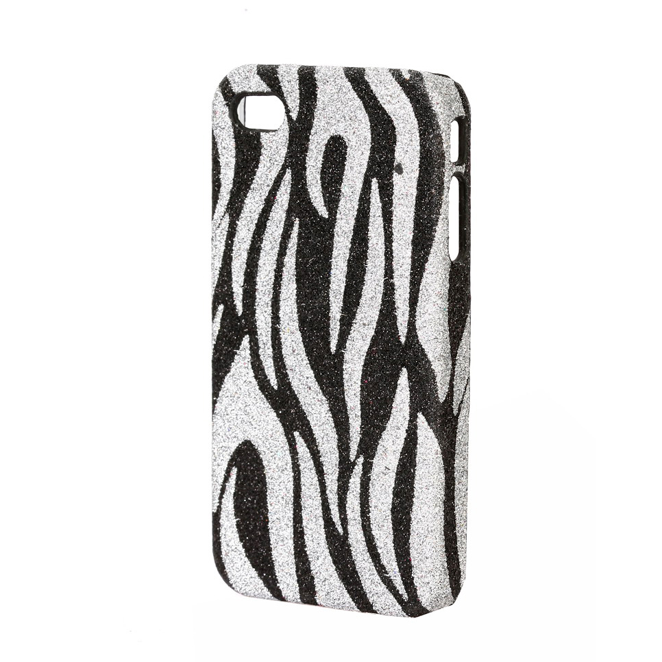 Glitter zebra print cell phone iPhone case/ cover