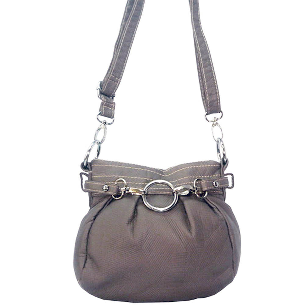 Ustyle Stone Washed Petite Cross Body Bag with Detachable Strap-Stone Grey