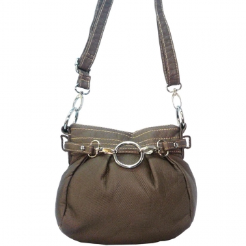 Ustyle Stone Washed Petite Cross Body Bag with Detachable Strap-Taupe