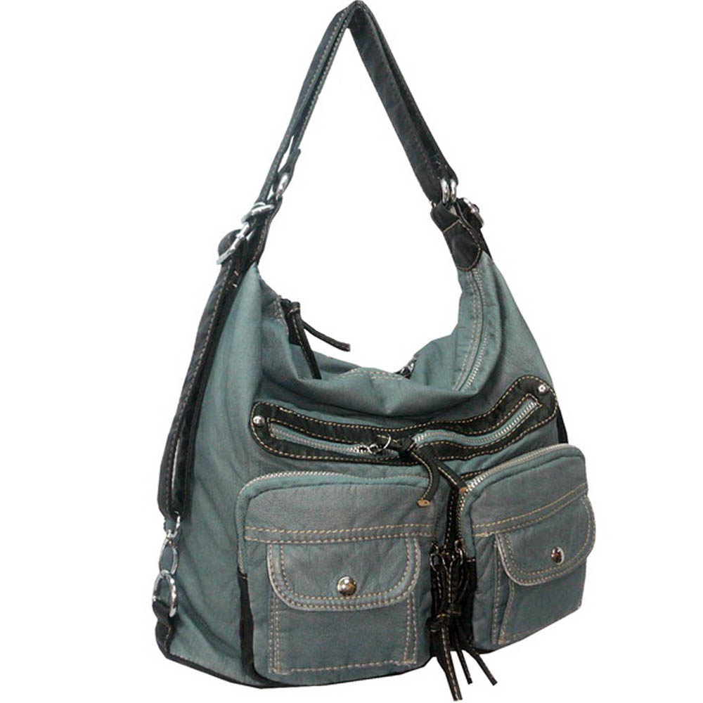 Soft fashion stone washed messenger bag with adjustable strap