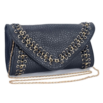 Fashion cross body/ clutch with decorative braided/ woven chain trim