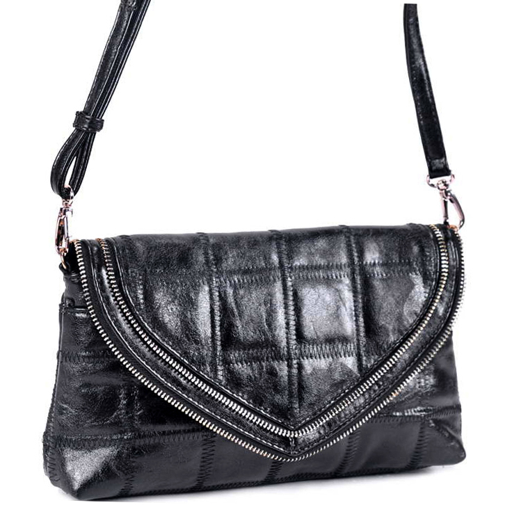 Deyce® Quilted Zipper Trim Crossbody