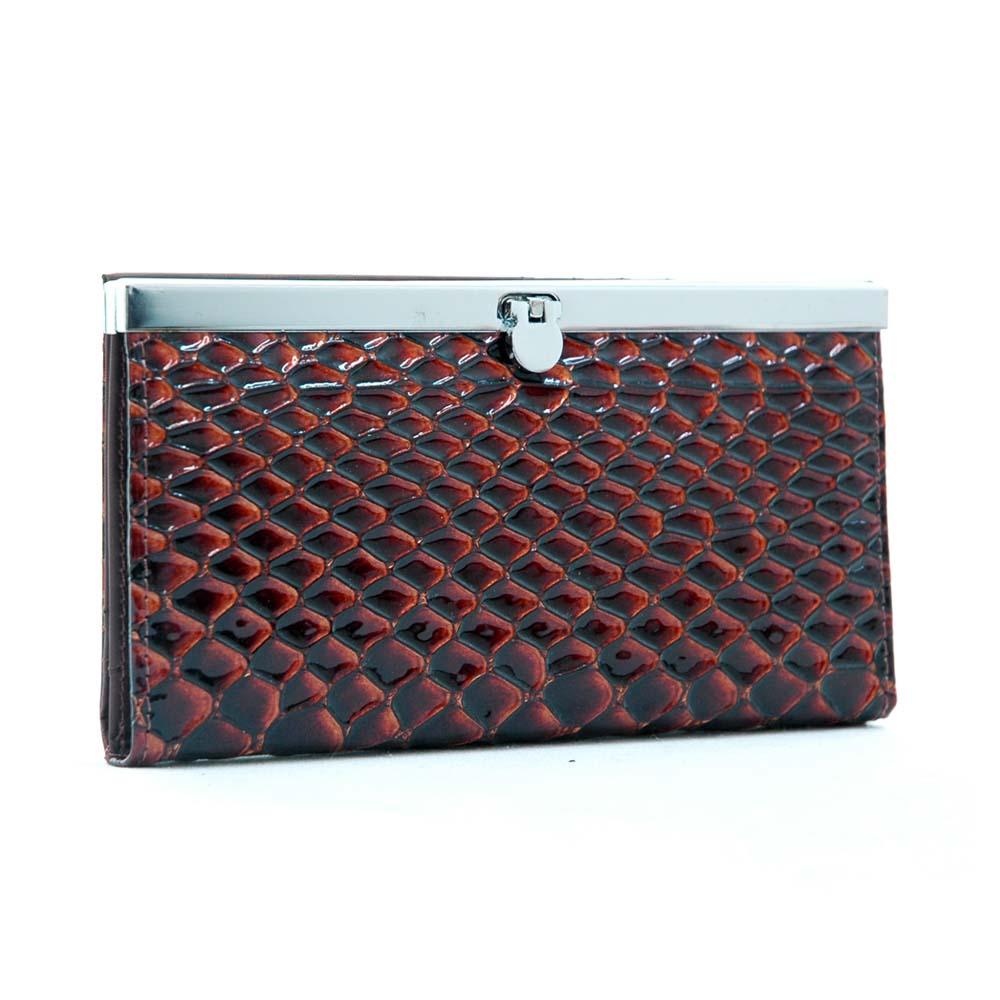 Dasein Esserpenti® Snap Closure Frame Wallet