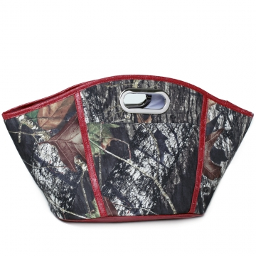 Camouflage insulated cooler/ tote bag with bottle opener