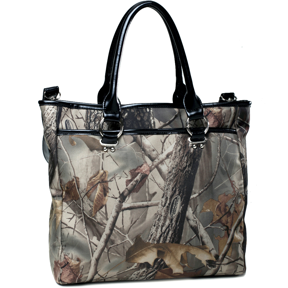 Realtree ® camouflage tote bag with detachable strap