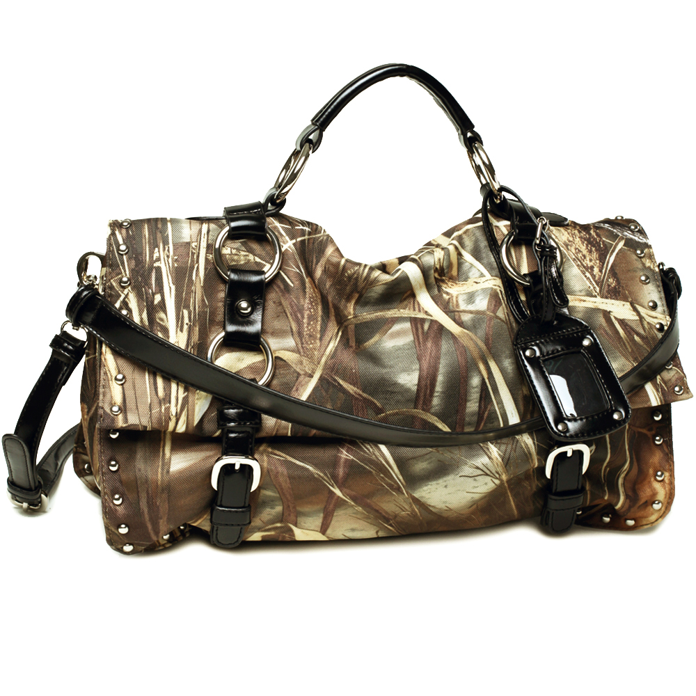 Realtree ® camouflage satchel bag with multi compartments
