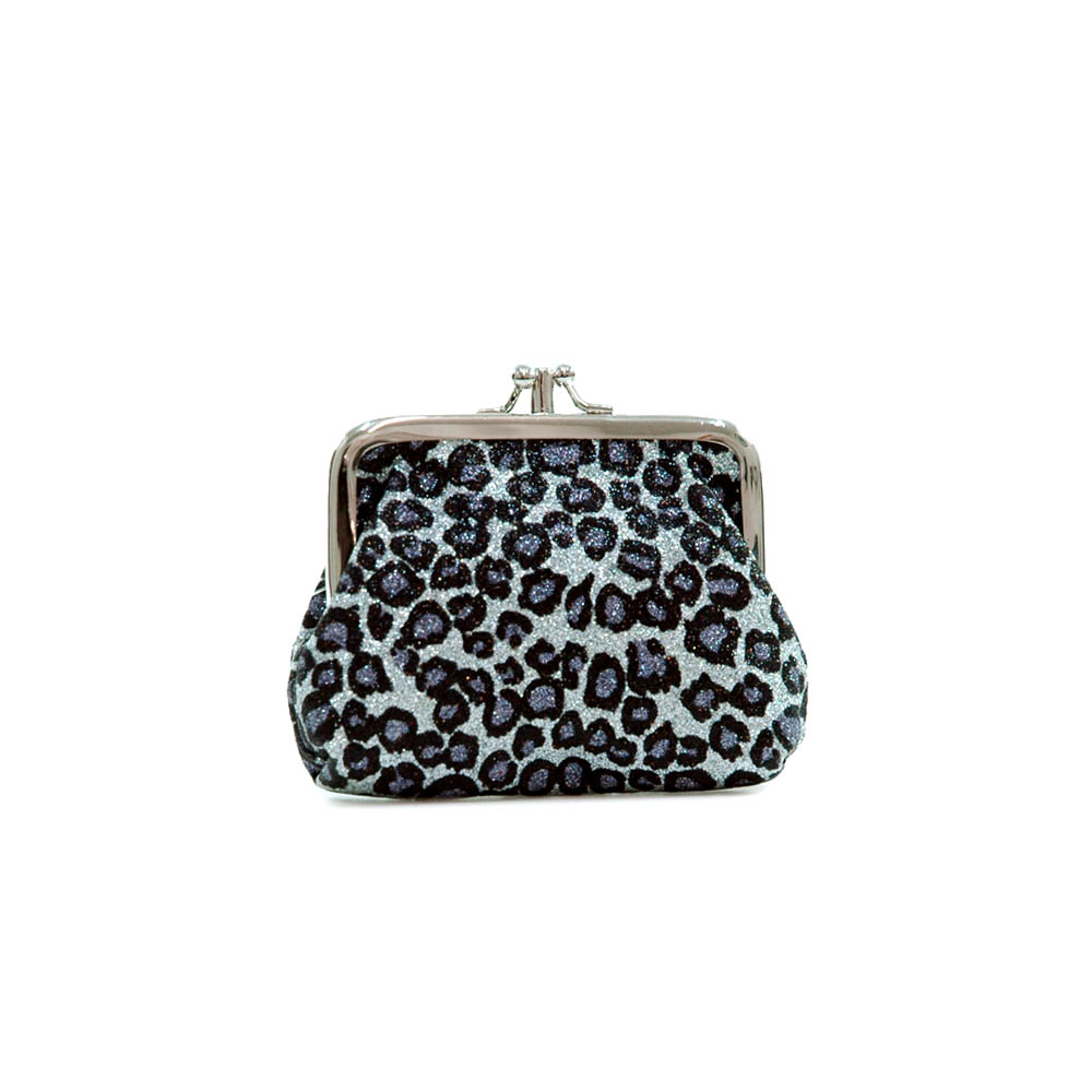 Glitter leopard pattern coin purse