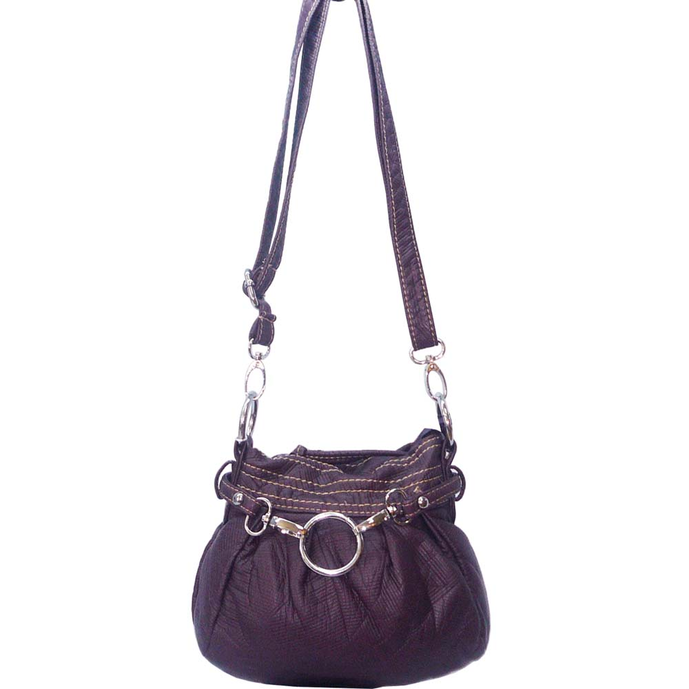 Ustyle Stone Washed Petite Cross Body Bag with Detachable Strap-Purple