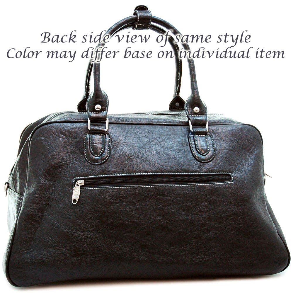 Fashion luggage/ travel/ duffel bag with studded cross accent
