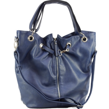 Dasein Tote Bag with Zipper Decoration-Purple