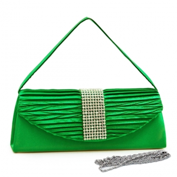 Evening bag clutch w/ rhinestone accented flap