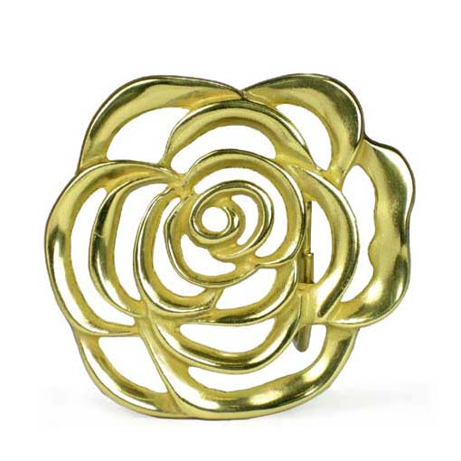 Rose flower belt buckle