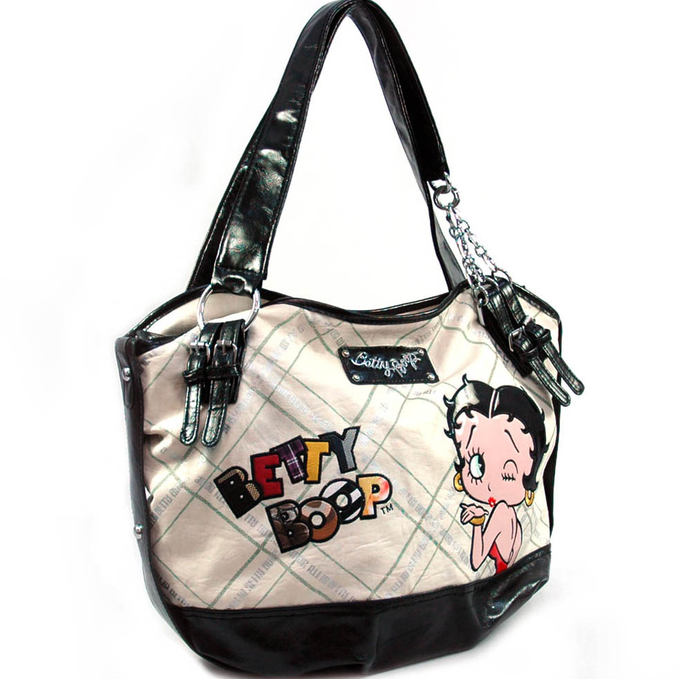 Betty Boop® large weekend tote w/ chain accents