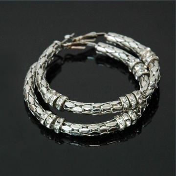 Hoop Earrings w/ rhinestones