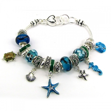 Nautical Style Bracelet w/ assorted charmss