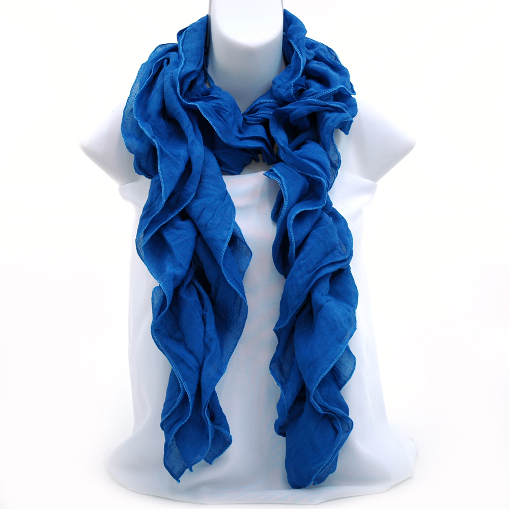 Scrunched ruffle boa style scarf