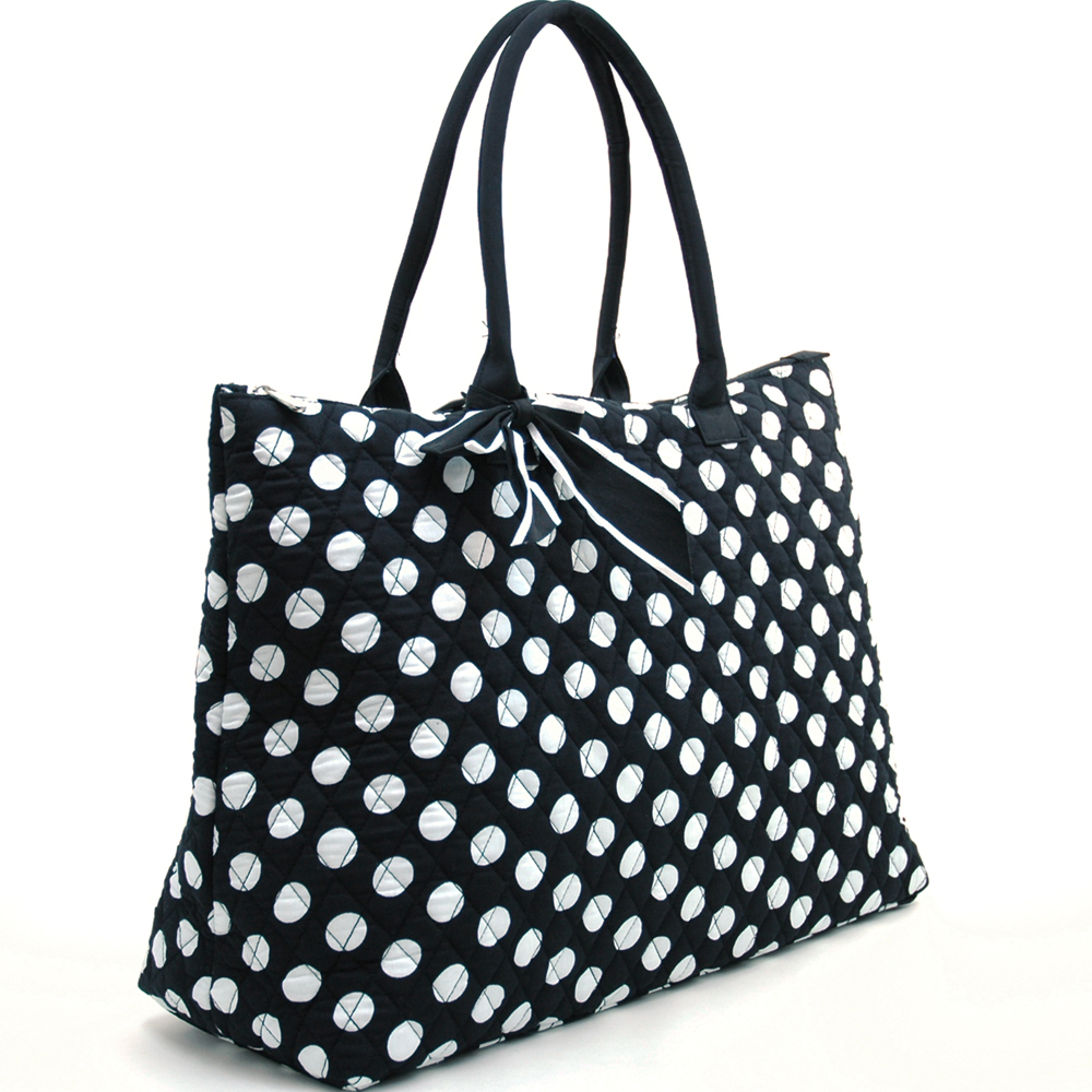 Fashlets Generic Large Quilted Polka Dot Tote