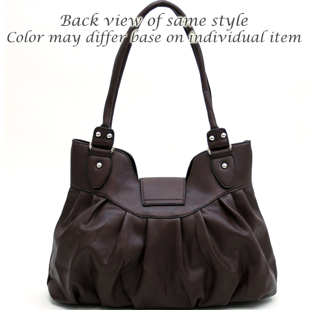 Dasein Classic Shoulder Bag w/ Twist-lock