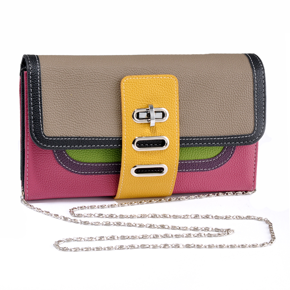 Multicolor Turn Lock Clutch