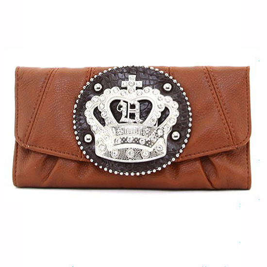 Rhinestone Crown Sign Tri-fold Wallet