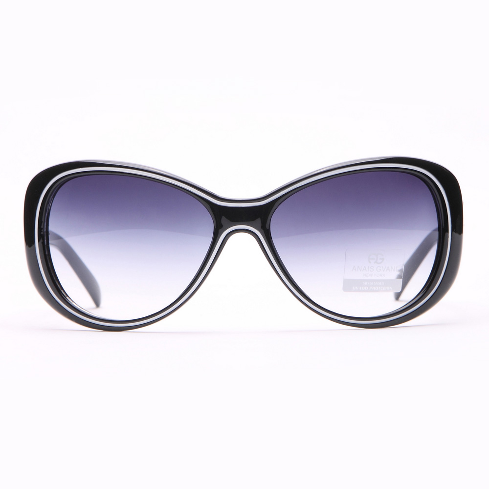 Wide Sunglasses with Outline Accent