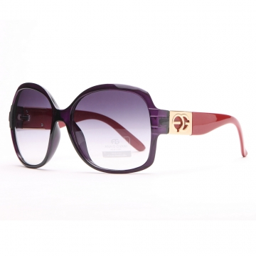 Round Box Frame Fashion Sunglasses Purple/Red