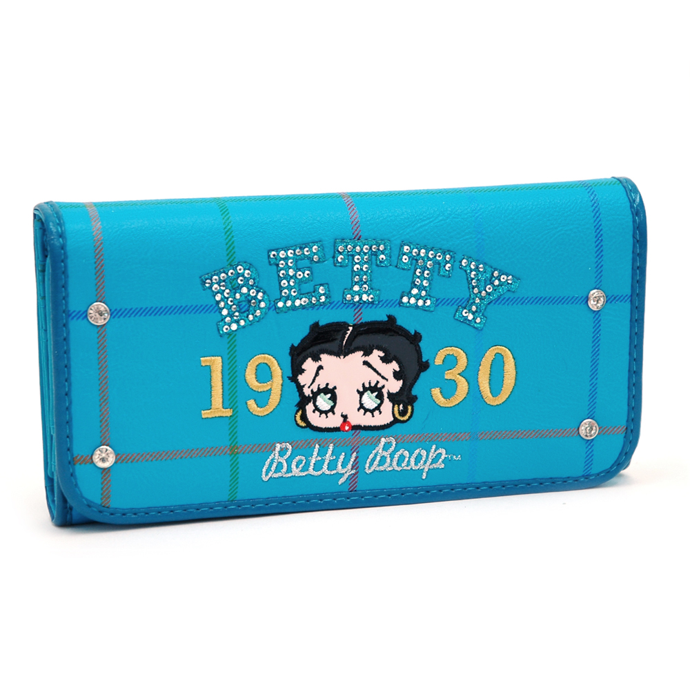 Betty Boop® Checkbook Wallet w/ Rhinestones and Grid Designs