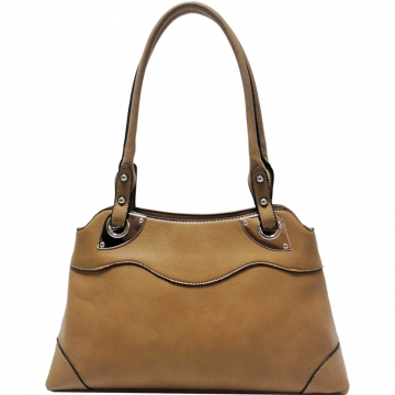 Dasein Classic Shoulder Bag w/ Studded Straps