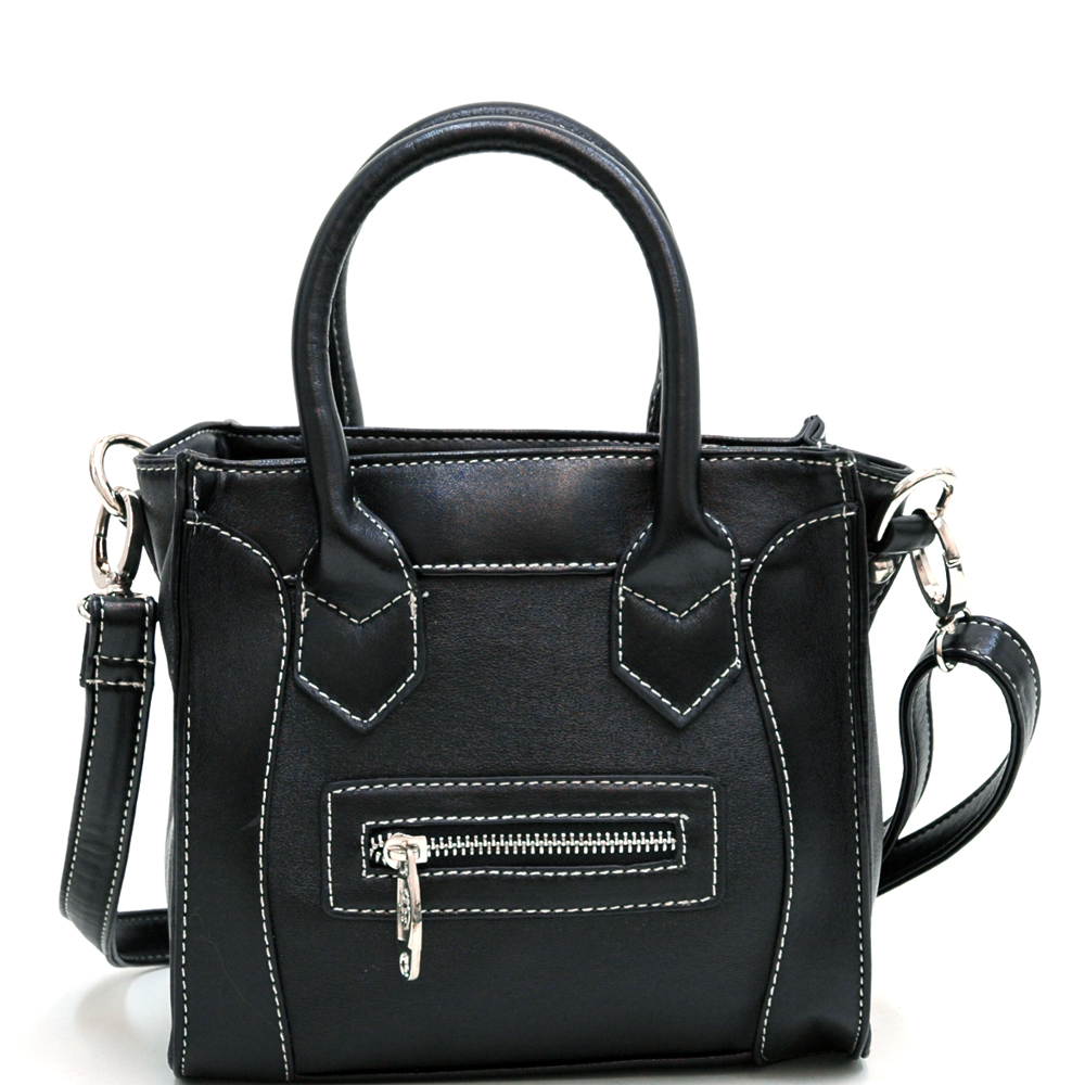 Petite carrying tote w/ detachable crossbody strap
