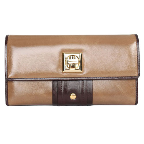 Anais Gvani® Tribeca Park Gold Stud Genuine Leather Wallet