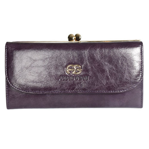 Anais Gvani® Tribeca Park Kiss-Lock Genuine Leather Wallet