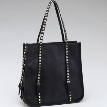 Square Fashion Shoulder Bag w/ Studded Straps
