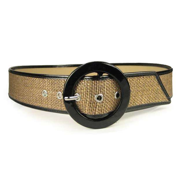 Ladies Patent Leather Piping Edge High Waist Fashion Belt