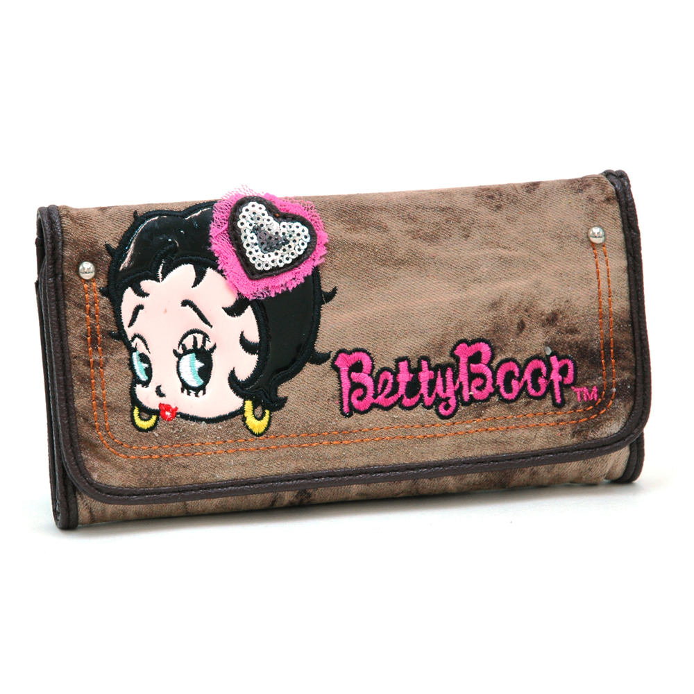 Betty Boop® Denim Laced & Faded Wallet