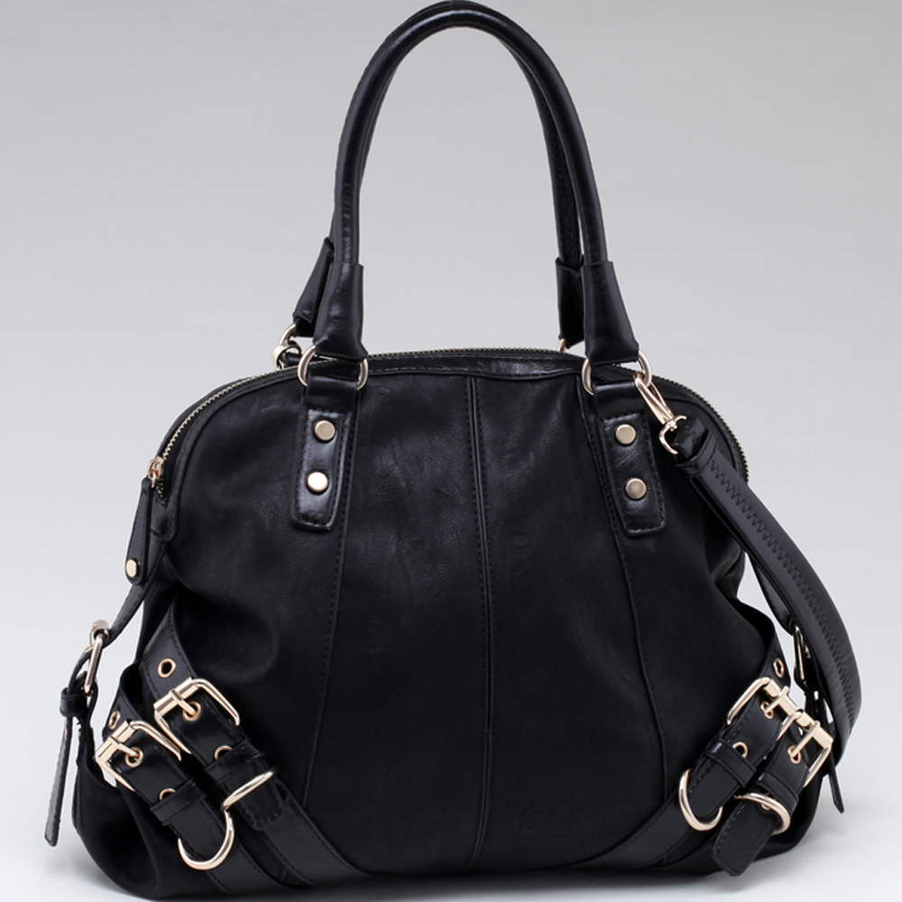 Belted Fashion Satchel w/ Bonus Shoulder Strap