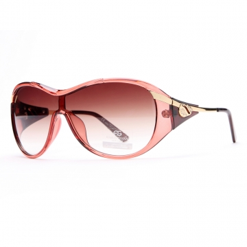 AG Glam Shield Fashion Sunglasses with Gold Temple Accent-Red