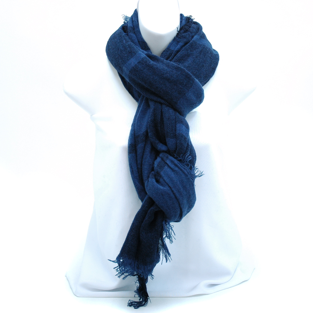 Two-tone Linear Design Fashion Scarf