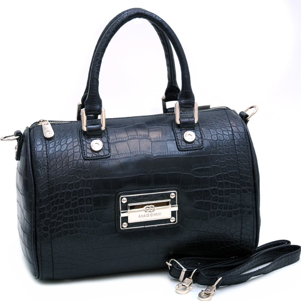 Anais Gvani® Pelham Bay Park Croco Barrel Satchel