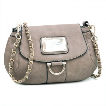 Anais Gvani ® Petite Chic Shoulder Bag with Gold Accents-Taupe