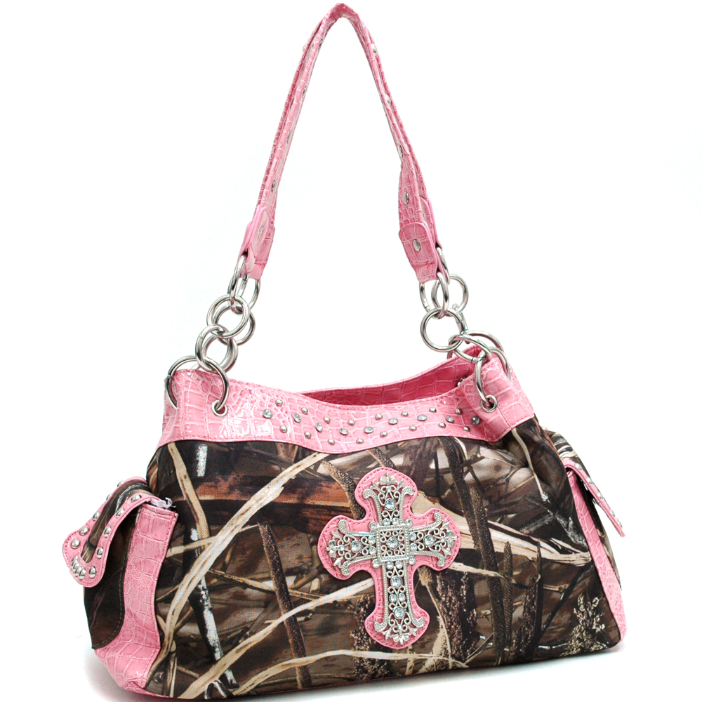 Realtree® MAX4 Camo Rhinestone Cross Shoulder Bag