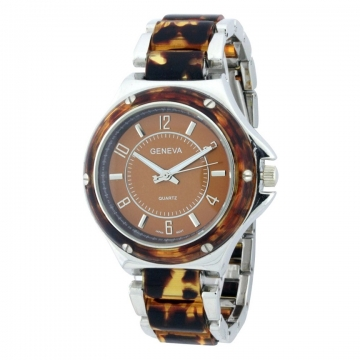 Women's Two Toned Classic Metal Watch